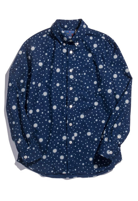Blue Blue Japan - Snowflake Indigo Twill Button Up Shirt