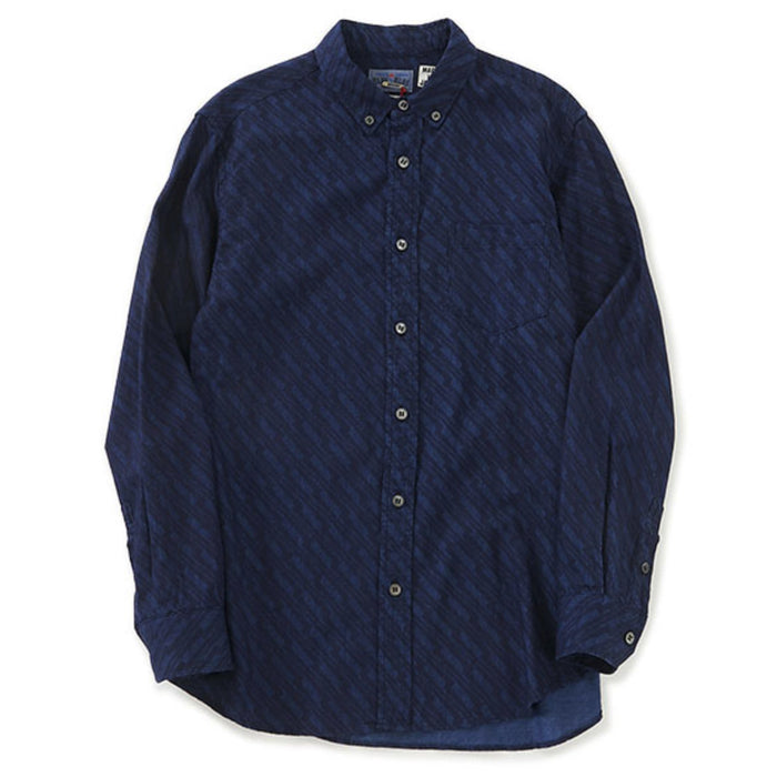 Blue Blue Japan -  Indigo Thunder Twill Button Up Shirt