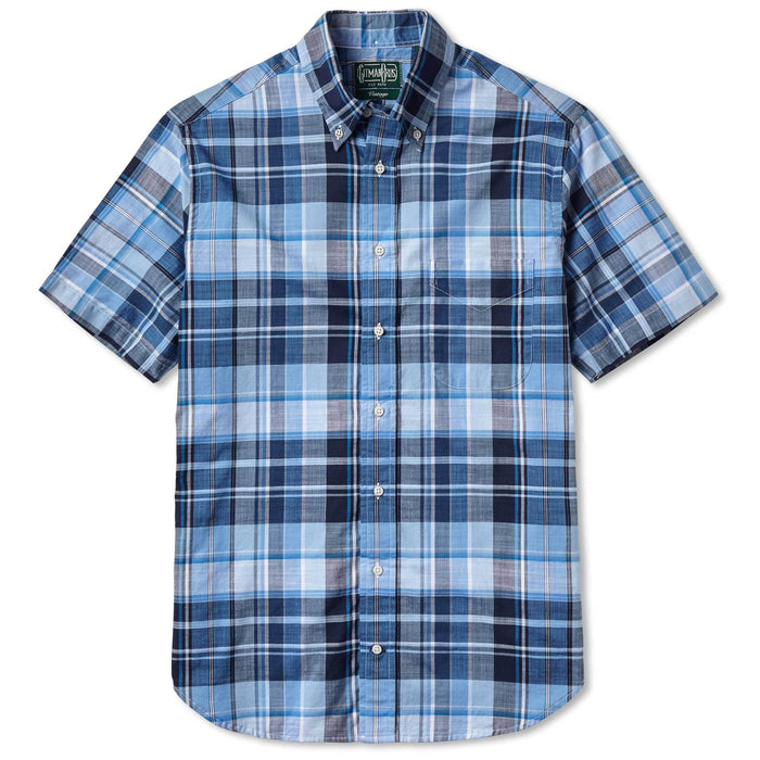Gitman Vintage - Blue Madras Button Up Shirt