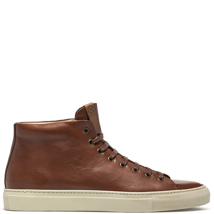 Buttero - Light Brown Leather Tanino Mid Sneakers