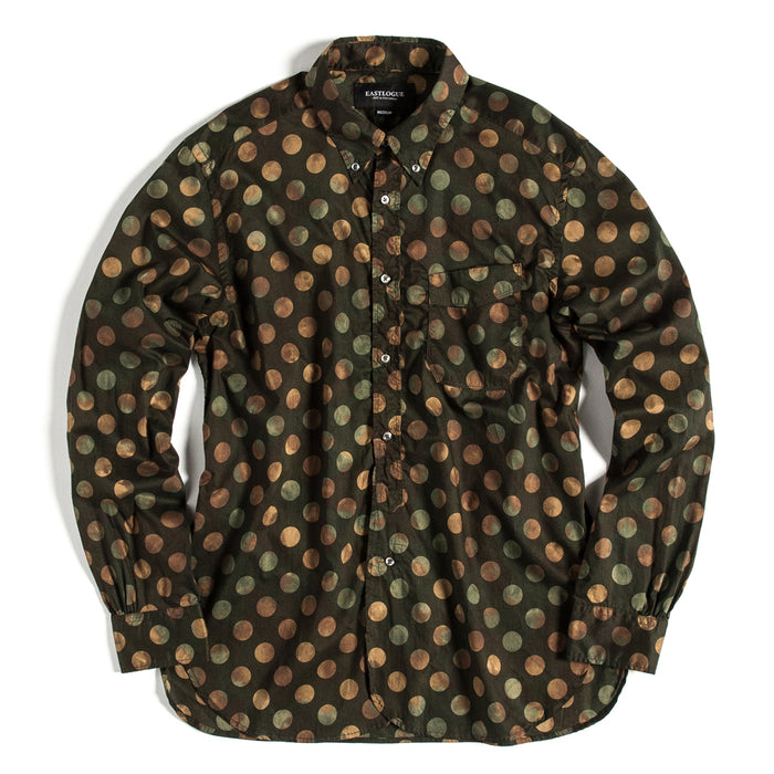 Eastlogue - Dark Olive Dot Button Up Shirt