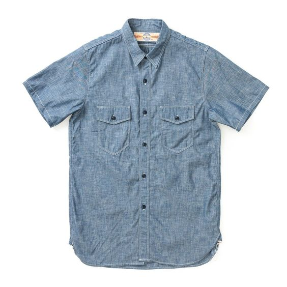 The Real McCoy's - USN Blue Chambray Short Sleeve Shirt