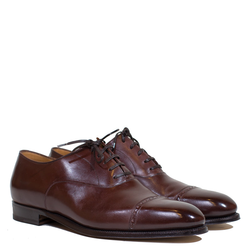 Enzo Bonafe - Etrusco Brown Calf Classic Oxford 74945 last Size 10UK