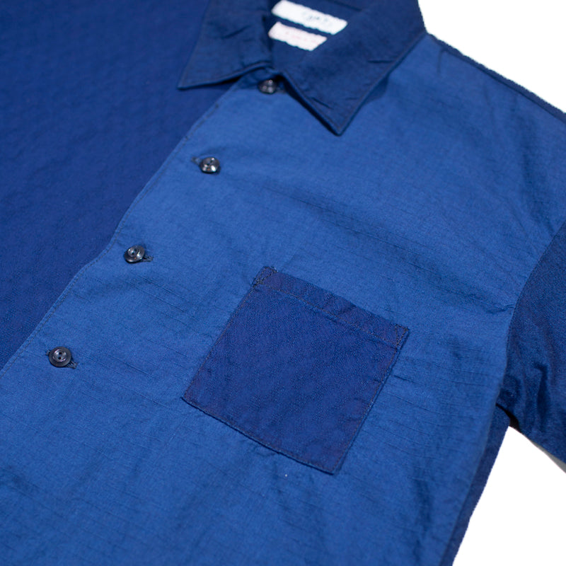 FDMTL - Blue Two Toned Short Sleeve Shirt