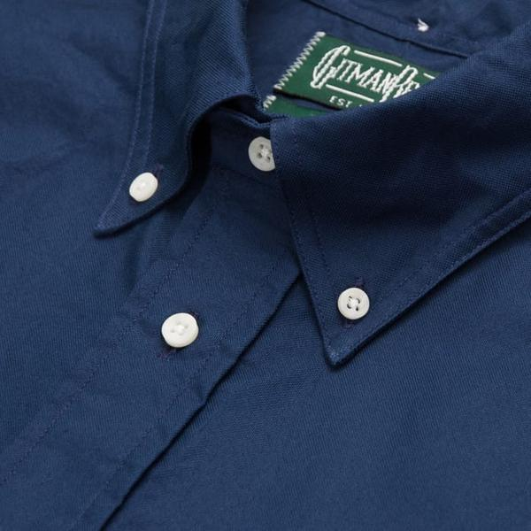 Gitman Vintage - Navy Blue Washer Cloth Button Up Shirt