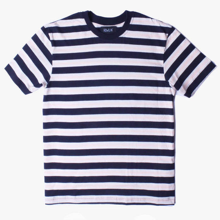 Howlin - Acid Rain Navy Striped T-Shirt