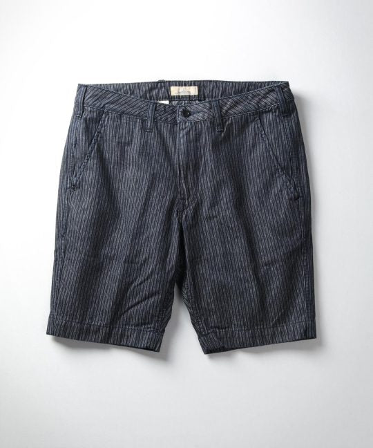 Japan Blue - J3230J07 Dobby Stripe Denim Shorts