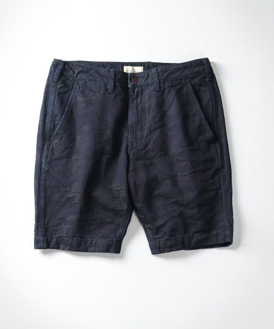 Japan Blue - J3230J05 Jacquard Camo Shorts (Indigo)