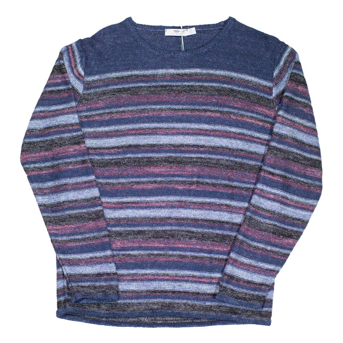 Inis Meáin - Varied Striped Linen Tunic Sweater