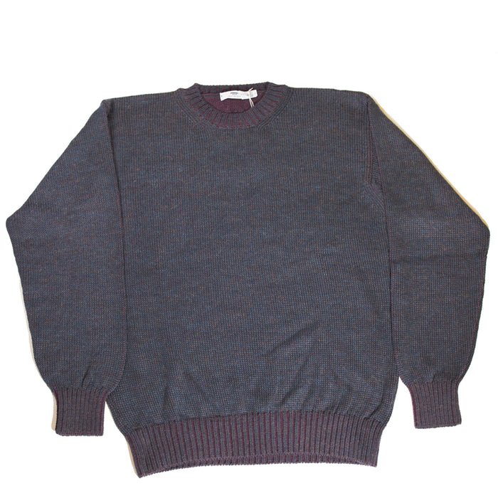 Inis Meáin - Navy PLATED ALPACA C/N Knit Crewneck Sweater