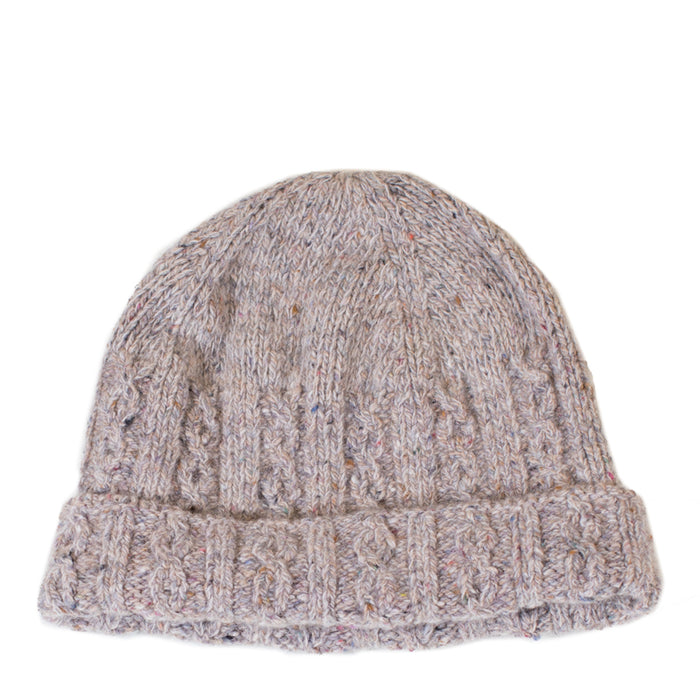 3ca28ac3d79 Inis Meáin - Oatmeal Donegal Cable Knit Hat