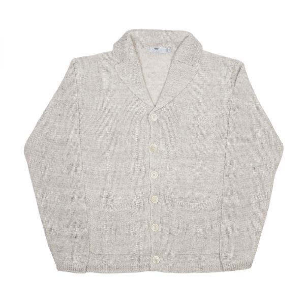 Inis Meáin -  mixed beige unwashed linen Pub Jacket