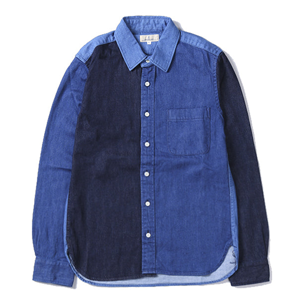 Japan Blue - Crazy Panel Indigo Button Up Shirt