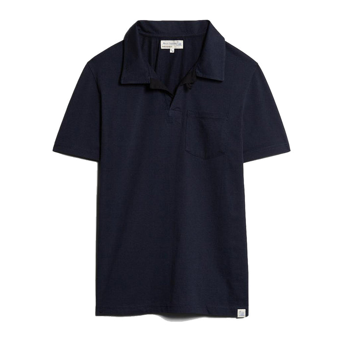 Merz B. Schwanen - Deep Blue Good Basics Polo Shirt