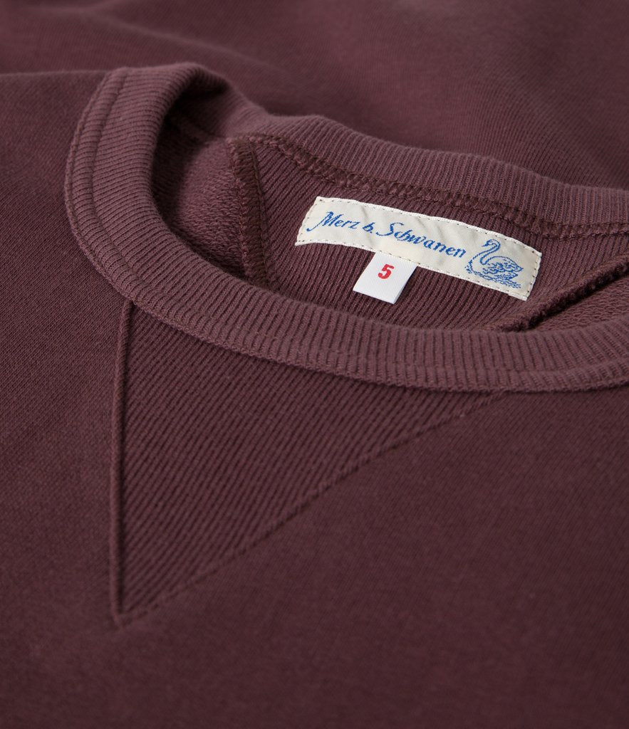 Merz B. Schwanen - Red Oak 346 Loopwheeled Crewneck Sweatshirt