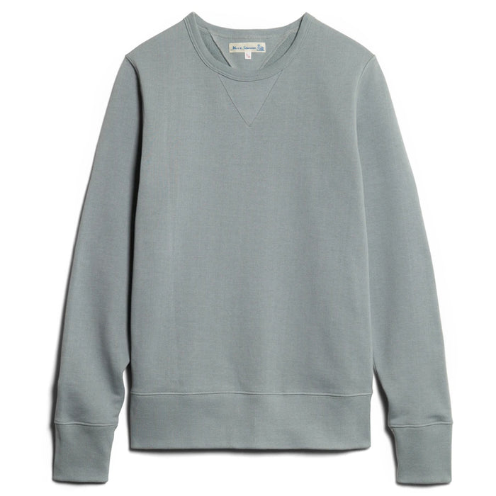 Merz B. Schwanen - Lead Grey 346 Loopwheeled Crewneck Sweatshirt