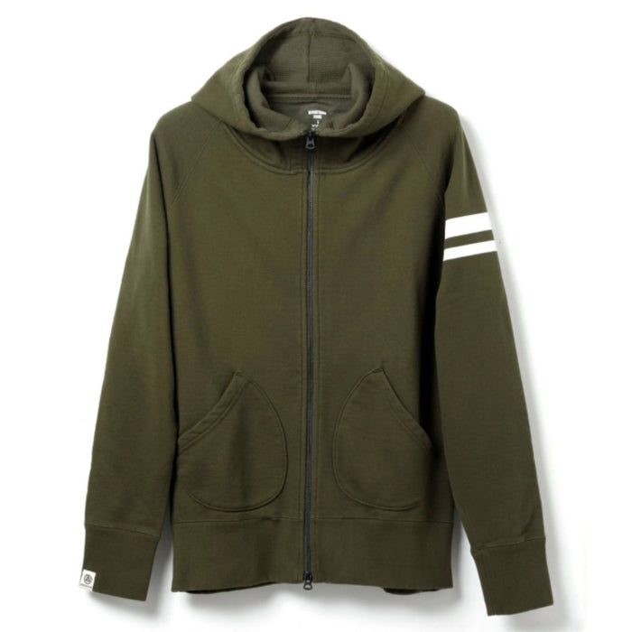 Momotaro - Olive GTB Heavyweight Zip Up Hoody