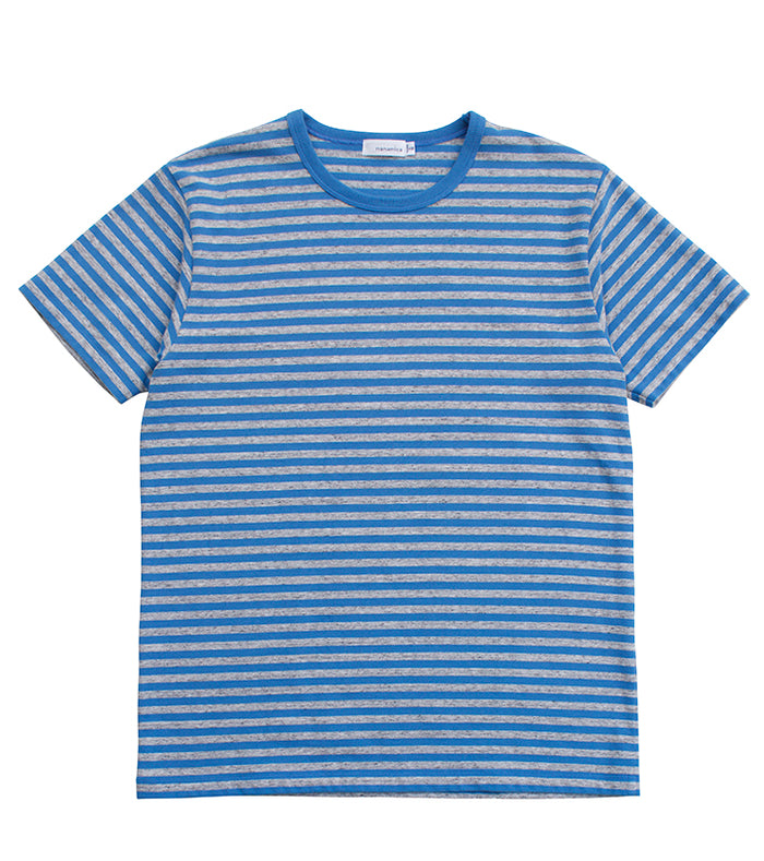 Nanamica - Blue and Grey Striped Cool Max T-Shirt