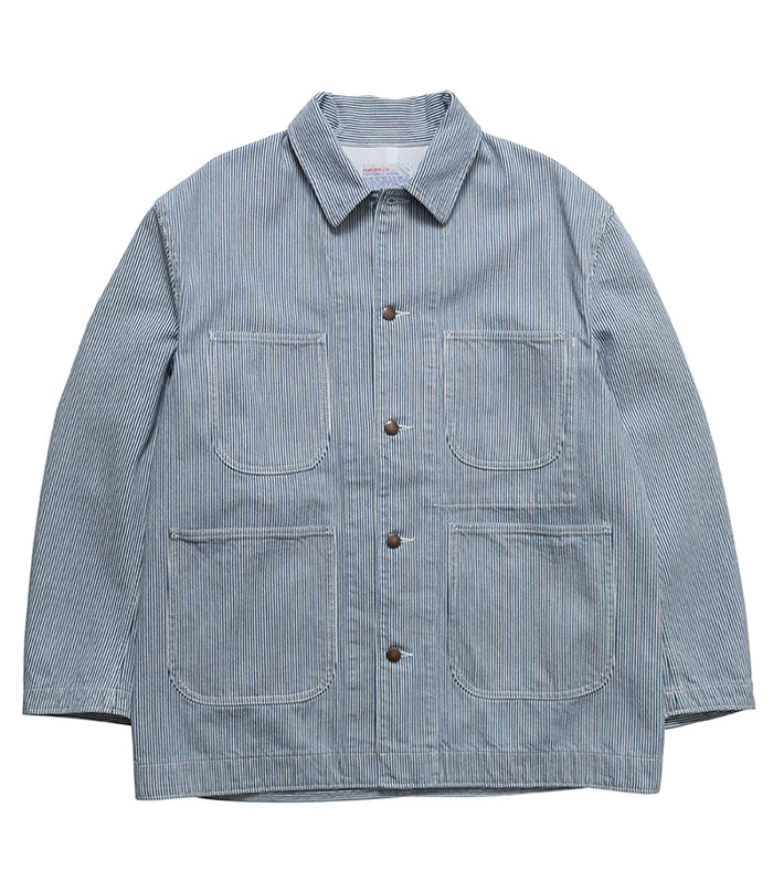 Nanamica - Indigo Stripe Coverall Jacket