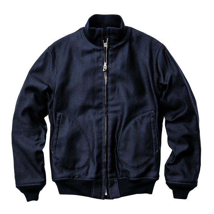 The Real Mccoy's - Navy Zip-Up Deck Jacket