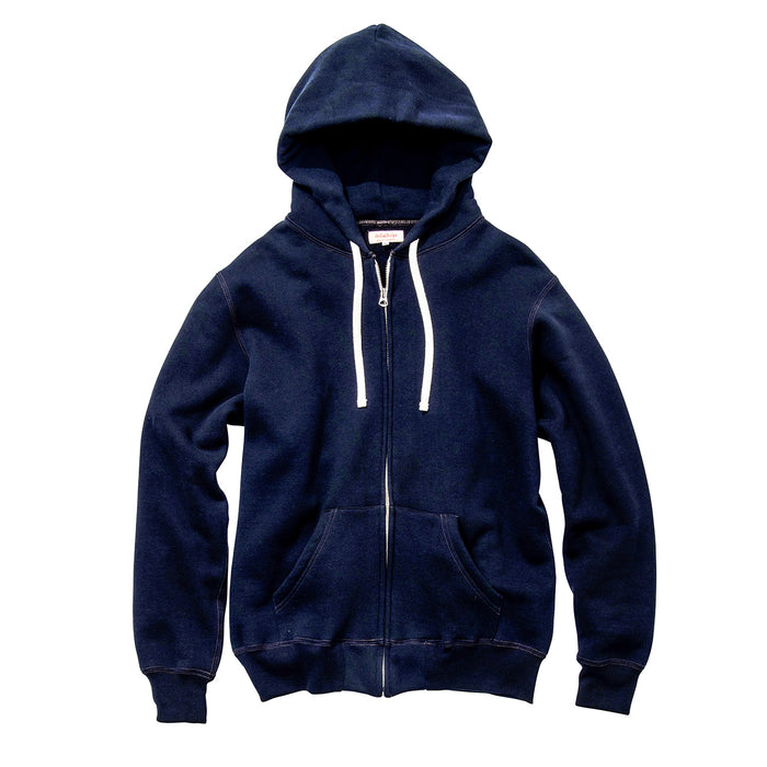 The Real McCoy's - 10 OZ Loopwheeled Navy Zip Up Sweatshirt