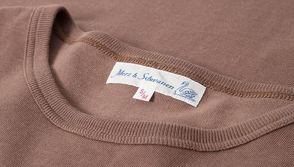 Merz B. Schwanen - Nut Brown 1950s Crewneck T-Shirt