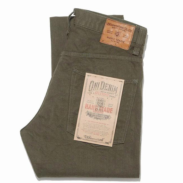 Oni Denim - 932HM-HOX-OLV Hand Made Relaxed Tapered Olive