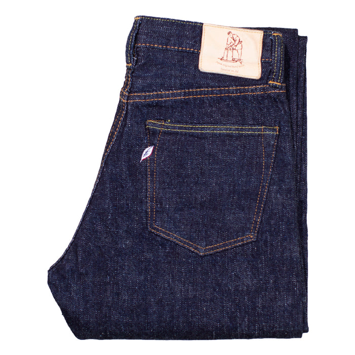 PURE BLUE JAPAN - SLB 16.5OZ INDIGO SLUB DENIM RELAXED TAPERED