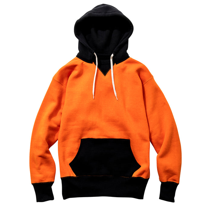 The Real McCoy's - Orange and Navy Two Tone Loopwheeled Sweatshirt