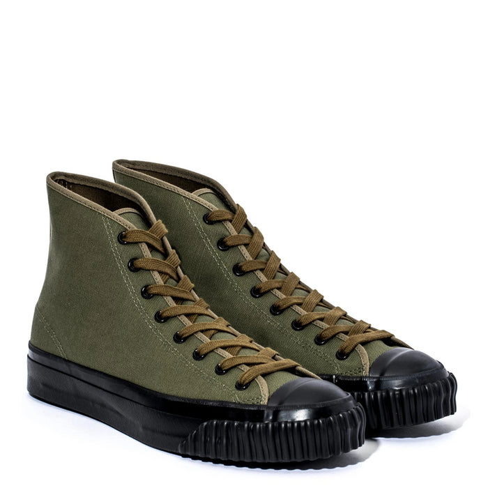 The Real McCoy's - Olive MILITARY CANVAS TRAINING SHOES