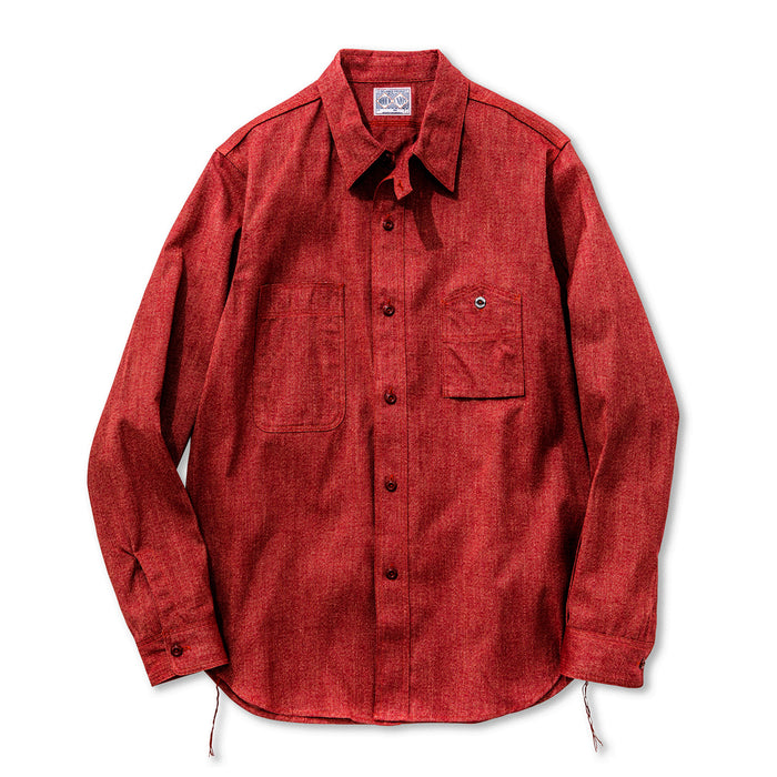 The Real McCoy's - 8 HOUR UNION RED TWIST CHAMBRAY WORK SHIRT