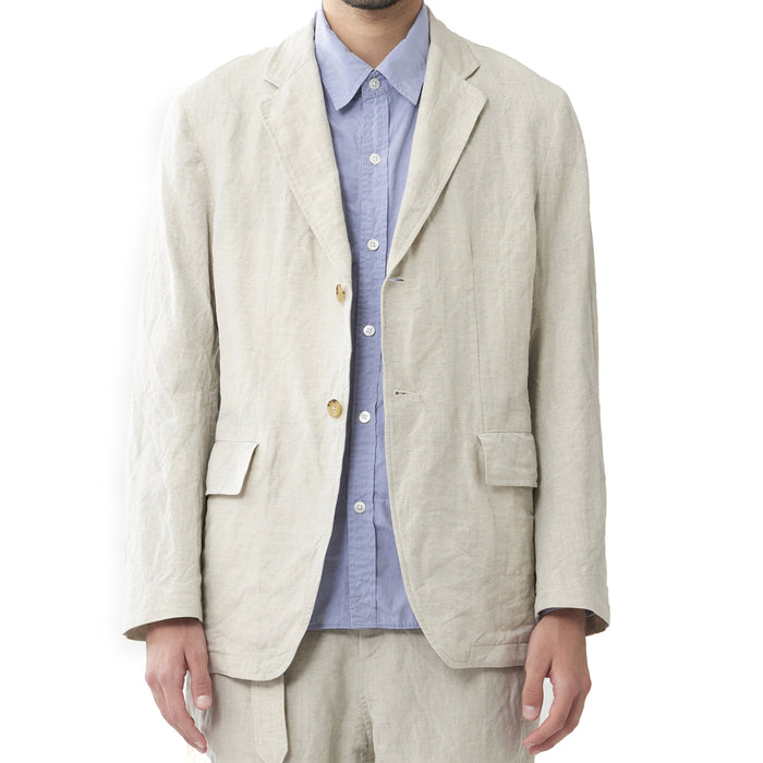 Sage de Cret - Natural Linen Blend Blazer Jacket