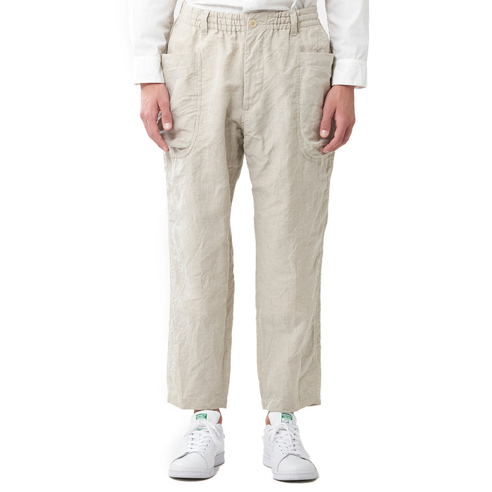 Sage de Cret - Natural Linen Blend Work Pants
