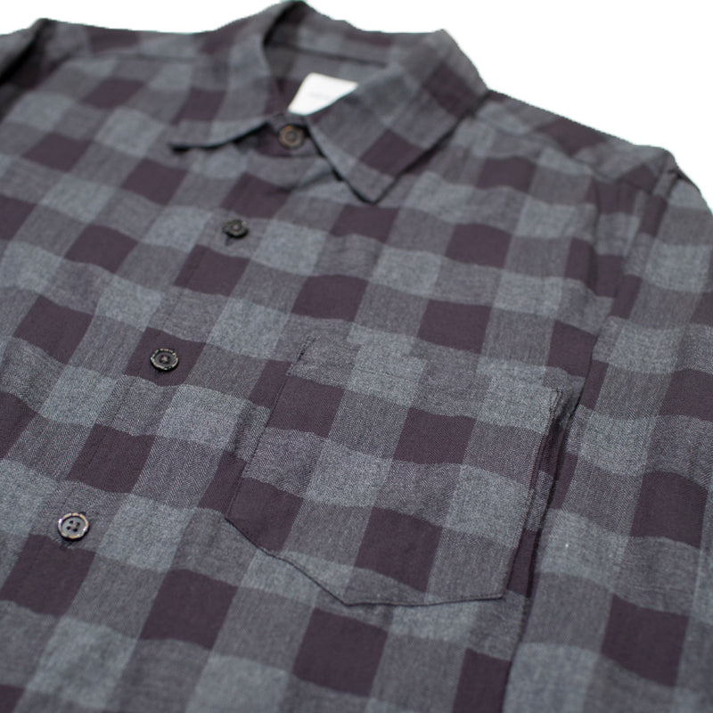 Sage de Cret Black and Grey Checkered L/S Shirt