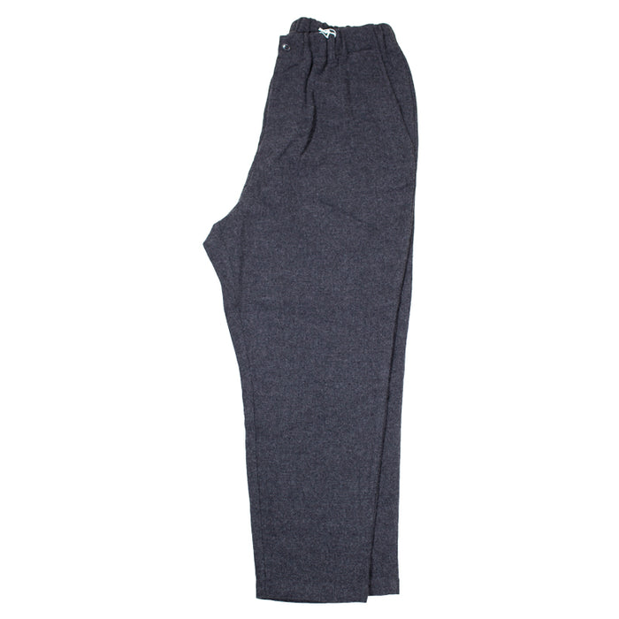 Sage de Cret - Charcoal Grey Washed Wool Flannel Pants