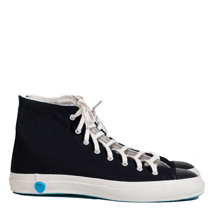 Shoes Like Pottery - Black High Top Vulcanized Canvas Sneaker