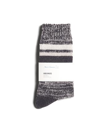 Merz B. Schwanen - GOOD BASICS: SOCKS - Charcoal/Grey