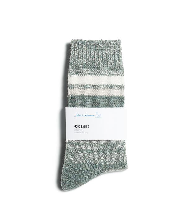 Merz B. Schwanen - GOOD BASICS: SOCKS - Meteor/Grey