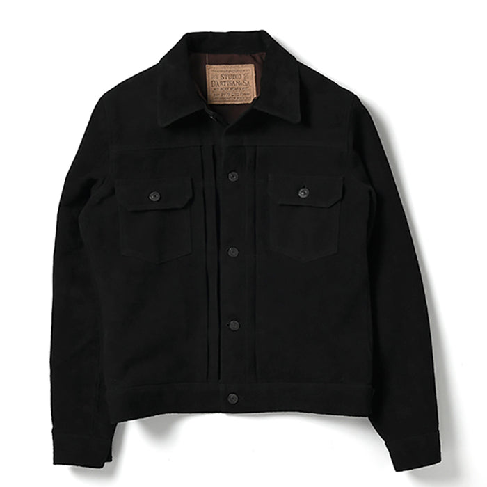 Studio D'Artisan - Black Suede Type II Leather Jacket