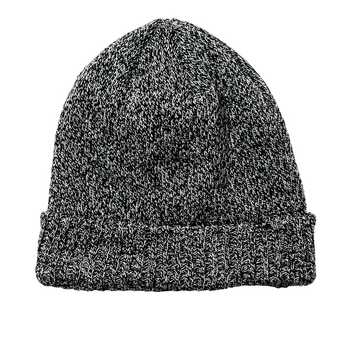 The Real McCoy's - Grey LOGGER Black Knit Cap