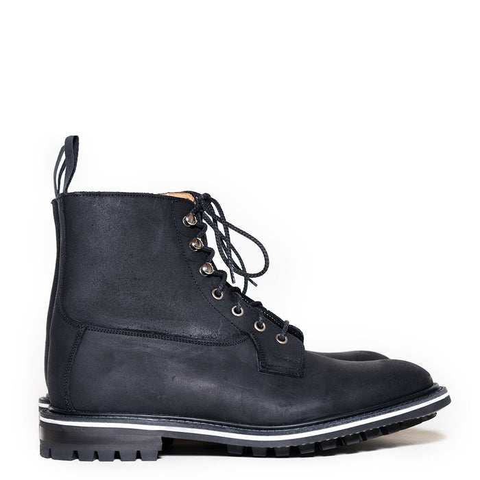 Tricker's - Black Waxy Commando Derby Boot