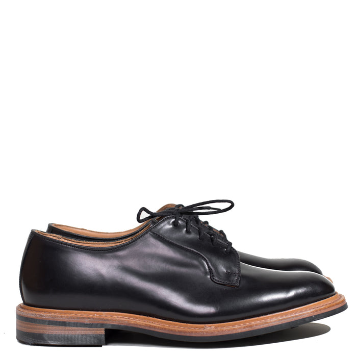 Tricker's - Black Shell Cordovan Robert Derby Shoe with Blind Eyelets (DEPOSIT PAYMENT)