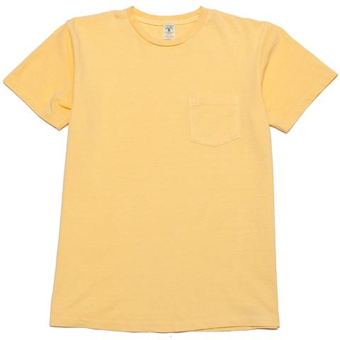 Velva Sheen - Pigment Dye Yellow Pocket T-Shirt