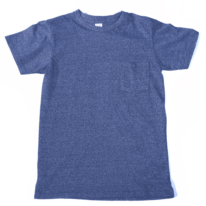 Velva Sheen - Heathered Blue Pocket T-Shirt