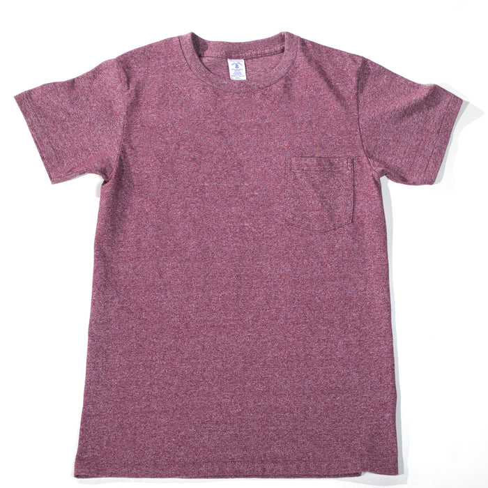 Velva Sheen - Heathered Burgundy Pocket T-Shirt
