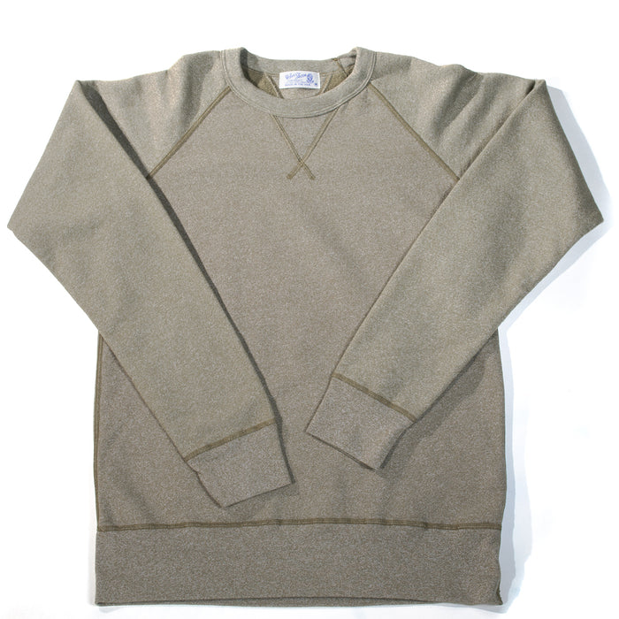 Velva Sheen - Heathered Olive Crewneck Sweater
