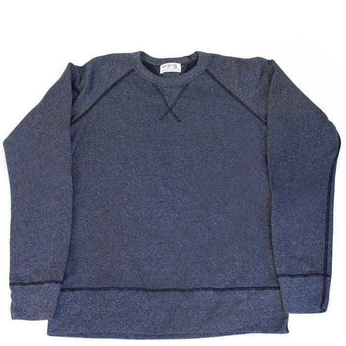 Velva Sheen - Heathered Navy Crewneck Sweater