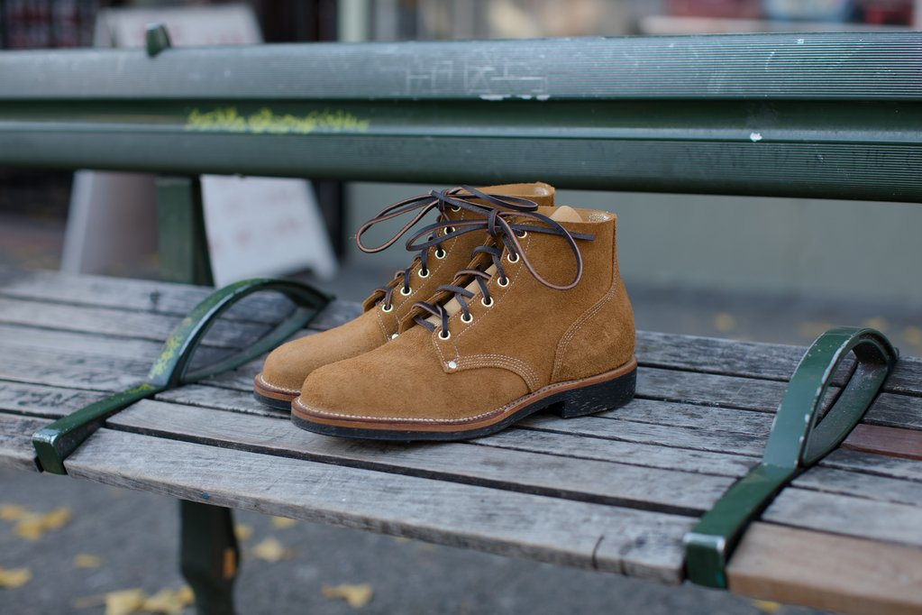Viberg - Wheat Roughout Boondocker Boot 110 Last PREORDER 50% Deposit (920 full price)