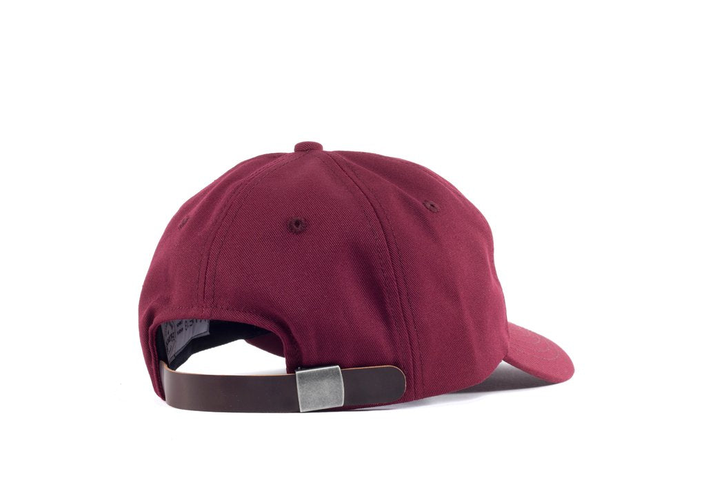 Viberg - Six Panel Burgundy Hat with Shell Cordovan Strap