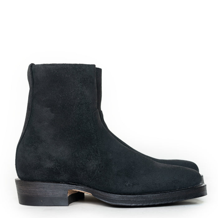 Viberg - Charcoal Chamois Roughout Sidezip Boot 2050 Last